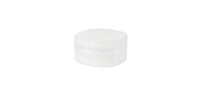 NaChuan Portable Soap Box #Transparent Matte White [Size S] [A0355-TA]