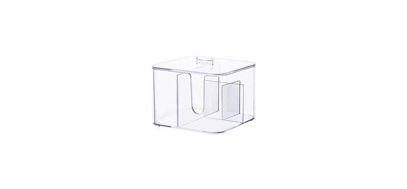 NaChuan Cosmetic Cotton Swab Box #Transparent [A0270-GC]