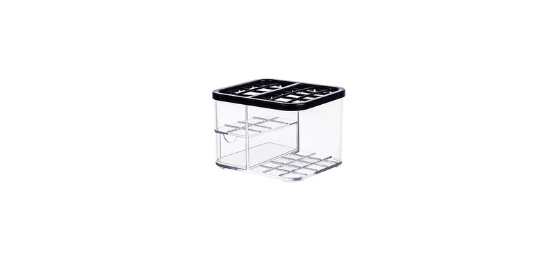 NaChuan Cosmetic Grid Storage Box #Transparent [A0270-GD]