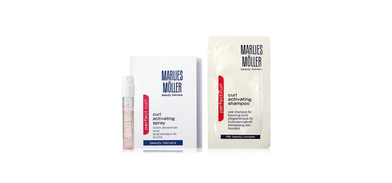 Marlies Moller Set 2 Items Curl Activating Shampoo 7ml + Curl Activating Spray 1.5ml