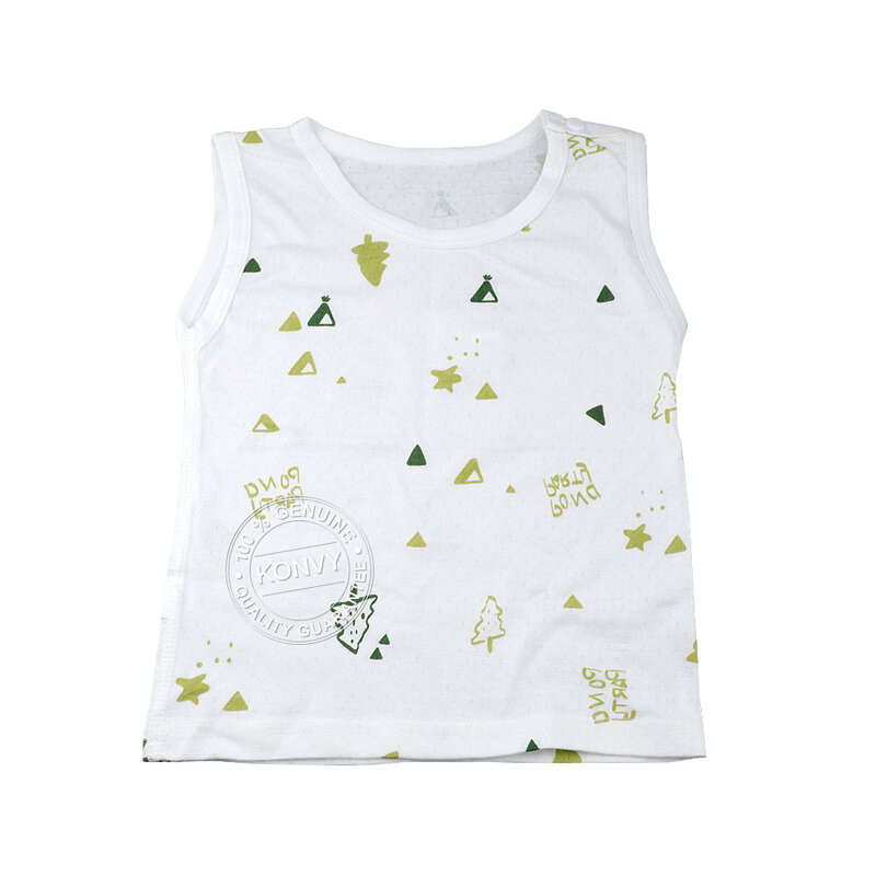 YUYING Baby Vest and Pants Set Pure Cotton 100% Cloth [6-12 Months] Forest #White #73 [1807T-2]
