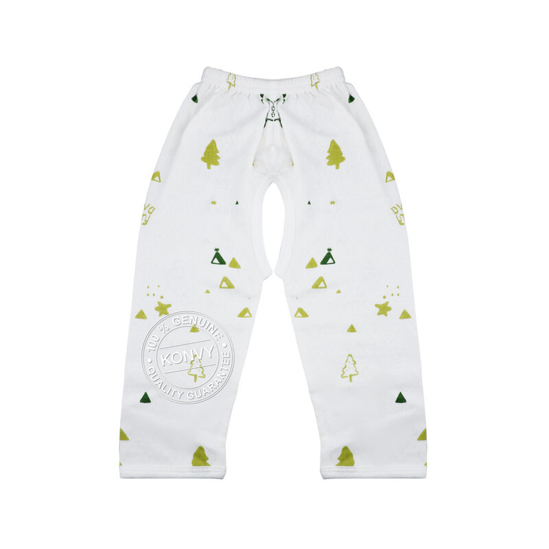 YUYING Baby Kimono Shirt and Pants Set Pure Cotton 100% Cloth [3-6 Months] Forest #White #66 [1807T-3]