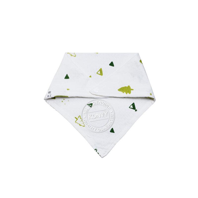 YUYING Baby Snap Bib & Drool Bib & Handkerchief Pure Cotton 100% Forest [8pcs] #White [1807T-7]