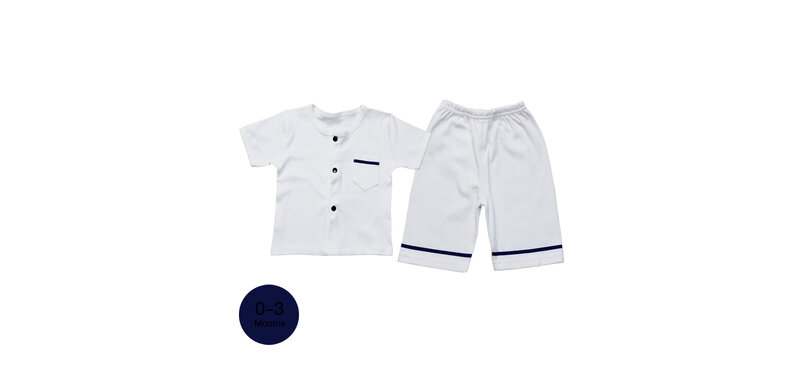 YUYING Baby Short Sleeve and Pants Set Pure Cotton 100% Cloth for Newborn [0-3 Months] Navy #Blue #59 [1920E-3]