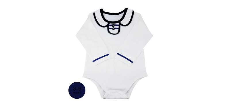 YUYING Baby Bodysuits Pure Cotton 100% Cloth [3-6 Months] Navy #White #66 [2020A-1]