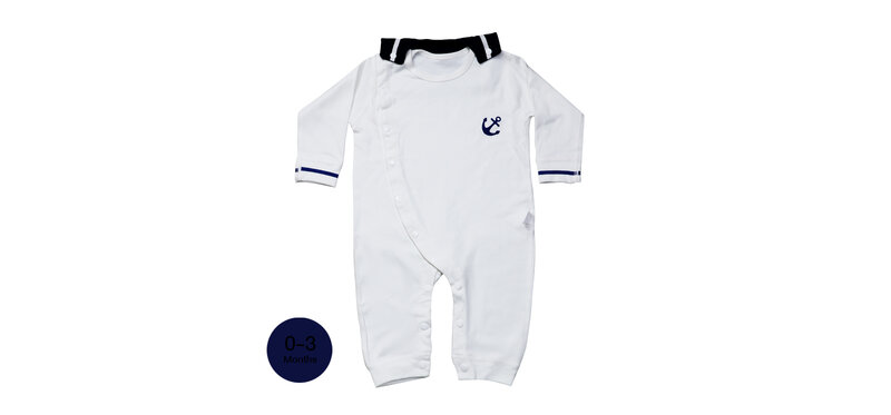 YUYING Baby Bodysuits & Snap Bib Pure Cotton 100% Cloth for Newborn [0-3 Months] Navy [2pcs] #White #59 [2020A-2]