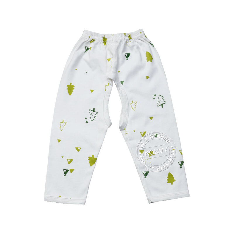 YUYING Baby Kimono Shirt and Pants Set Pure Cotton 100% Cloth [6-12 Months] Forest #White #73 [1807D-3]