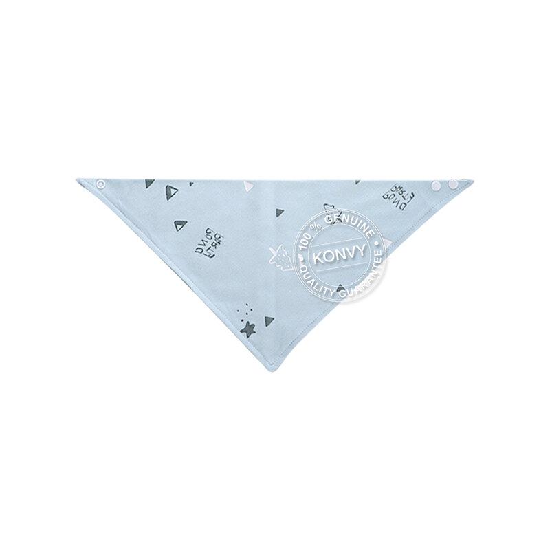 YUYING Baby Snap Bib & Drool Bib & Handkerchief Pure Cotton 100% Forest [8pcs] #Blue [1807D-7]
