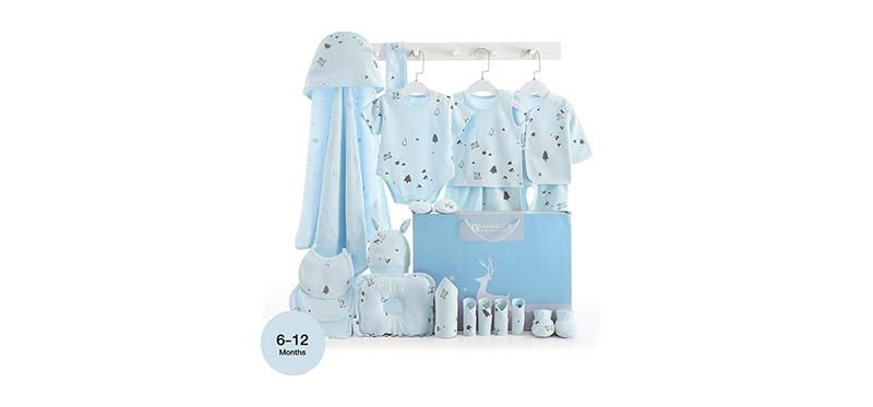 YUYING Premium Baby Gift Set Pure Cotton 100% Cloth Set Forest [21pcs] #Blue #73 [6-12 Months] [1807D]