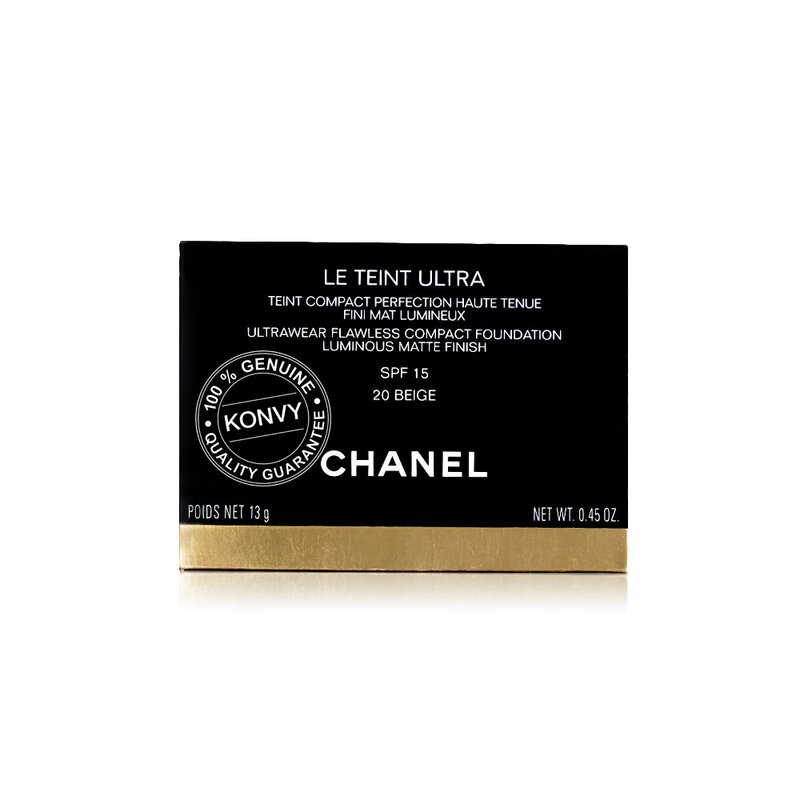 Chanel  Le Teint Ultra Tenue Ultrawear Flawless Compact Foundation Matte Spf 15 13g #20 Beige