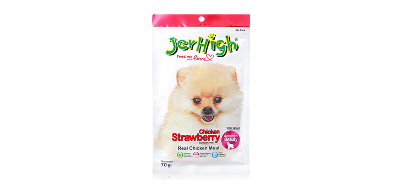 Jerhigh Dog Snack Chicken Strawberry Flavour Stick 70g