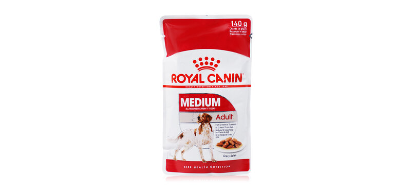 Royal Canin Dog Food Medium Adult from 12 Months to 10 years 140g ( สินค้าหมดอายุ : 2021.11 )