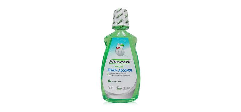 Fluocaril Zero% Alcohol Double Mint Mouthwash 500ml