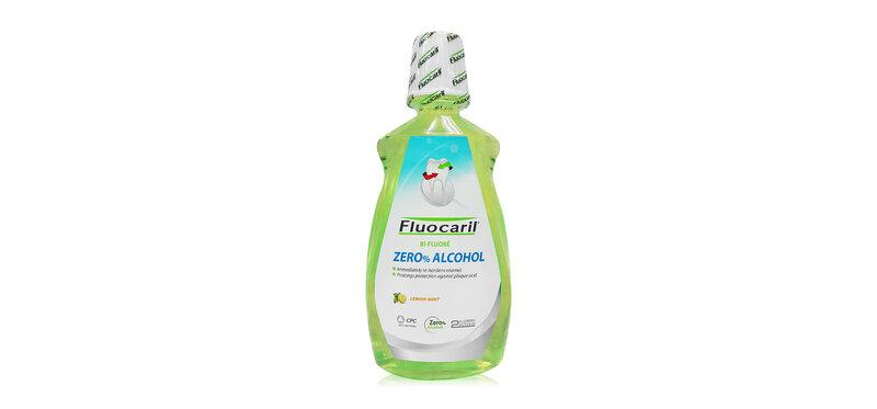 Fluocaril Zero% Alcohol Double Lemon Mint Mouthwash 500ml
