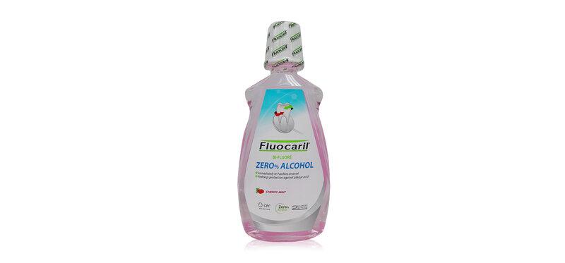 Fluocaril Zero% Alcohol Double Cherry Mint Mouthwash 500ml