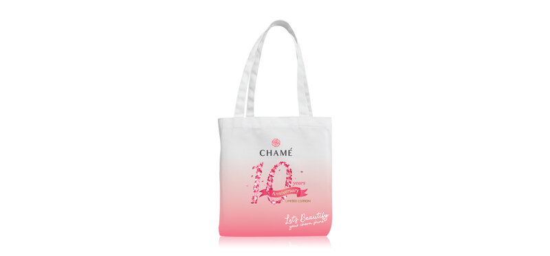 [Free Gift] Chame 10th Anniversary Pink Tote Bag Limited Edtion