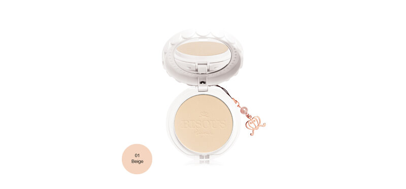 Bisous Bisous White Posy Whitening Powder Pact SPF30/PA+++ 12g #01 Beige