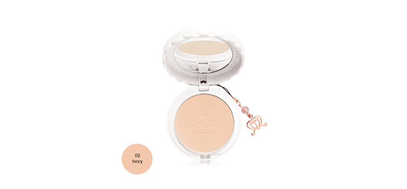 Bisous Bisous White Posy Whitening Powder Pact SPF30 PA+++ 12g #02 Ivory