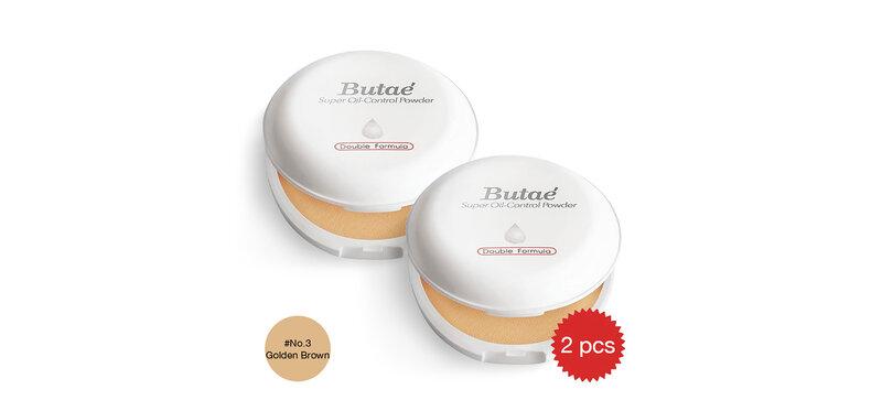 [แพ็คคู่] Butae Super Oil-Control Powder Double Formula #3 Golden Brown [14g x 2]