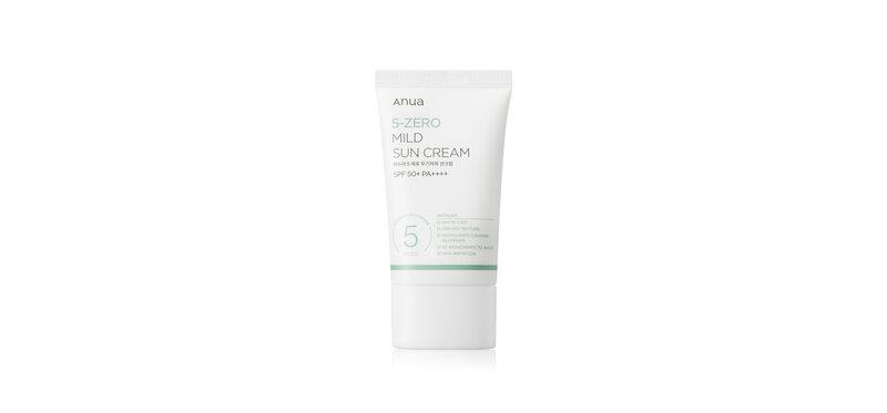 ANUA5-Zero Mild Sun Cream 50ml
