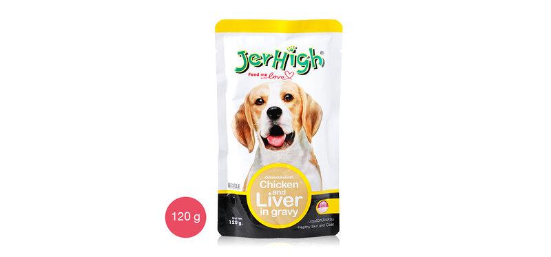 Jerhigh Dog Food : Chicken and liver in gravy 120g