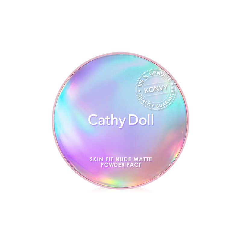 Cathy Doll Skin Fit Nude Matte Powder Pact SPF30/PA+++ 12g #04 Honey Beige
