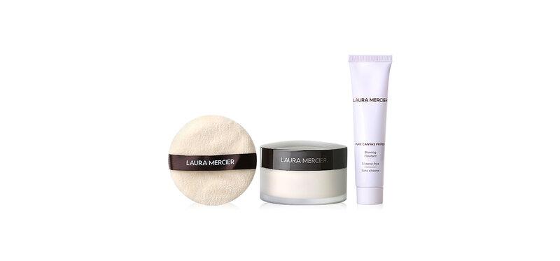 Laura Mercier Pure Canvas-Brurring & Tranlucent loose Setting Powder Set