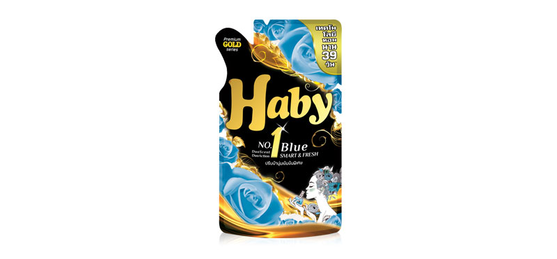 Haby Concentrate Fabric Softener Smart & Fresh Blue 590ml