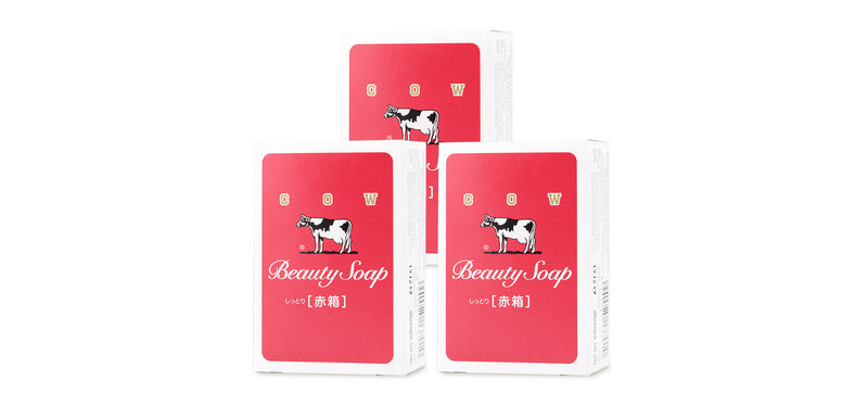 [แพ็คสาม] COW Soap Moisture [Red Box] [100g x 3pcs]
