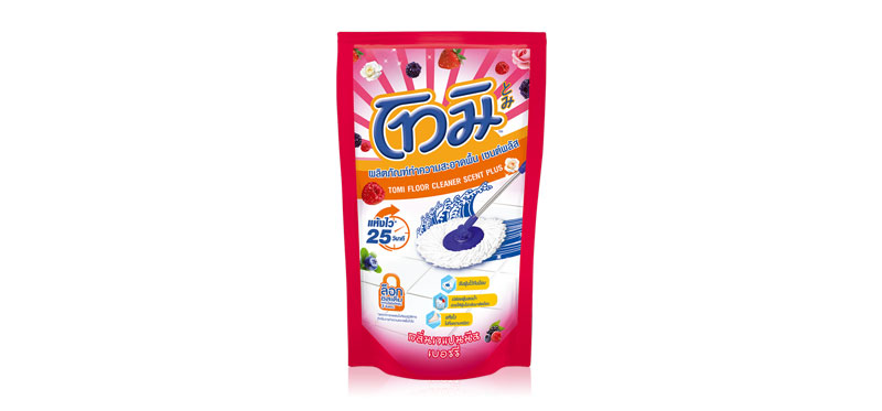 Tomi Floor Cleaner Pink Berry Japanese Berry Refill Pouch 800ml