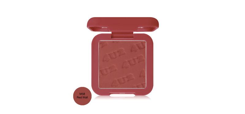 4U2 Matte Blush On Made By 4U2 4.5g #M58 Red Wall