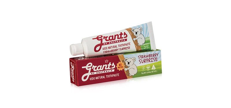 Grants of Australia Kids Toothpaste Strawberry Surprise 75g