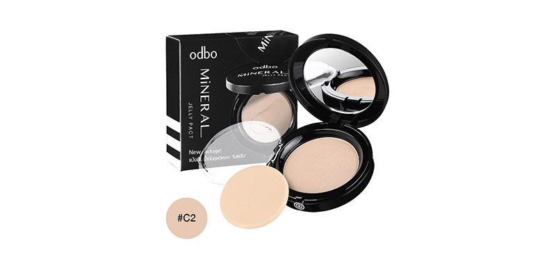 ODBO Mineral Jelly Pact Makeup Powder SPF36/PA++ 13g #OD619-C2