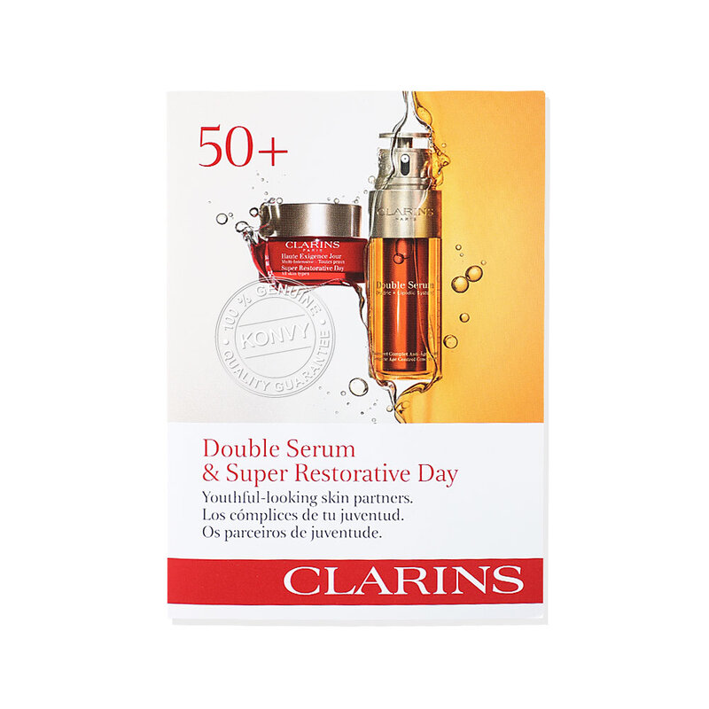 Clarins Double Serum & Super Restorative Day (0.9ml+2ml)