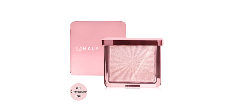 MKUP Angels Glow Highlighter 6.5g #01 Champagne Pink
