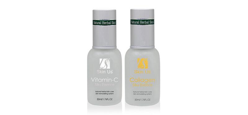 HBMIC Set 2 Items Vitamin-C Silky Essence 50ml + Collagen Silky Essence 50ml