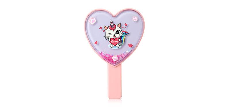 Konvy Heart Shaped Hand Mirror #Pink