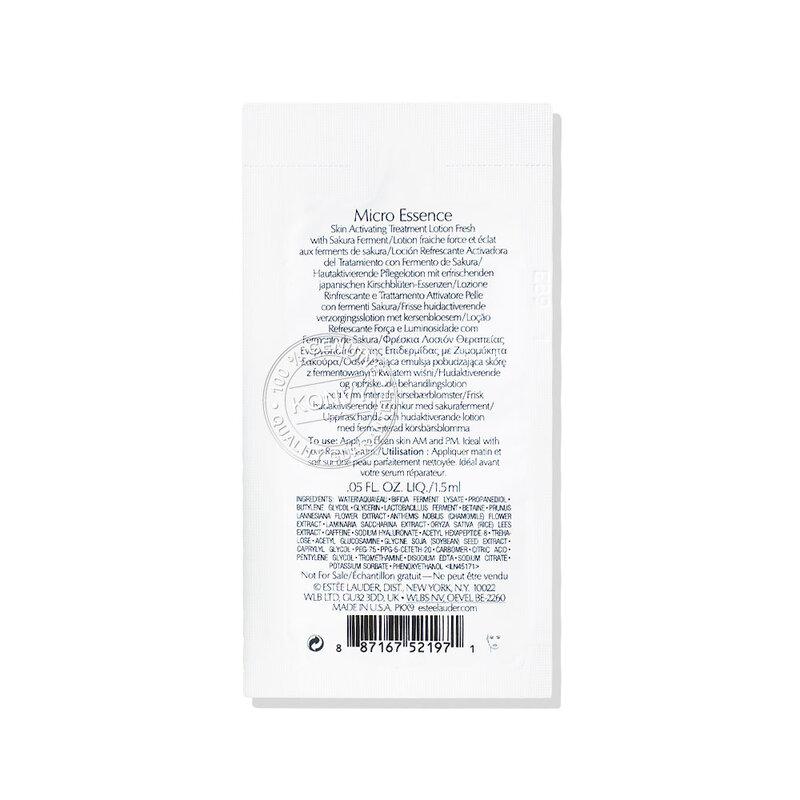 [แพ็คคู่] Estee Lauder Micro Essence Skin Activating Treatment Lotion Fresh With Sakura Ferment [1.5mlx2pcs]