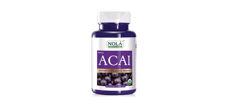 Nola Acai Dietary Supplement Product 100% Freeze Dried 60 Capsules