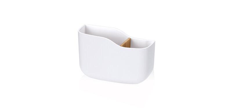 NaChuan Wall-mounted Remote Storage Box #White [A0318-SJB]