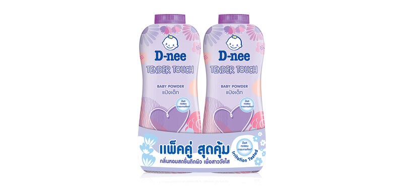 D-nee Baby Powder Tender Touch [380g x 2pcs]