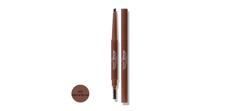 4U2 Basic Brow Triangular Brow Pencil 0.25g #02 Natural Brown