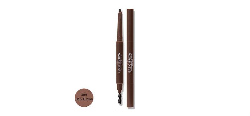 4U2 Basic Brow Triangular Brow Pencil 0.25g #03 Dark Brown
