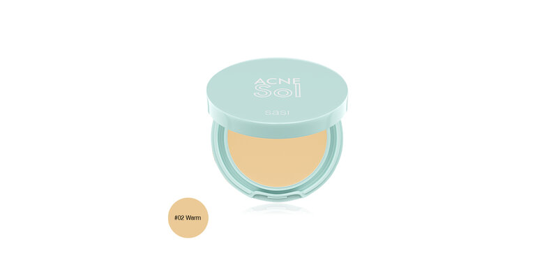 SASI Acne Sol Compact Powder 4.5g #02 Warm