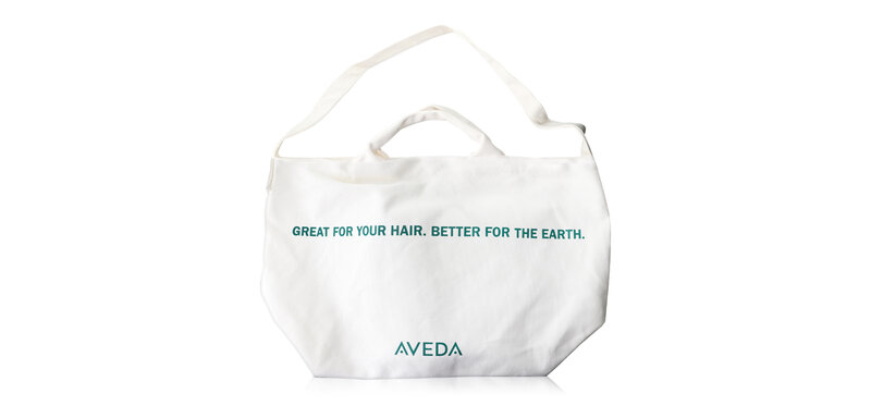 Aveda Large Canvas Bag #White