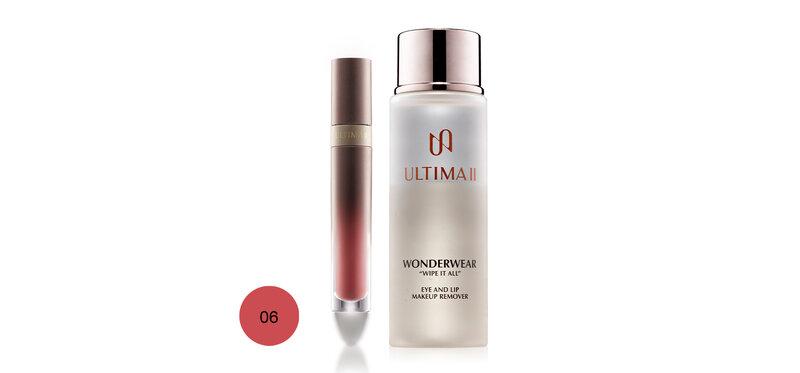 ULTIMA II Set 2 Items Lip & Cheek 4.8g #06 Queen In Pink + Makeup Remover 55ml