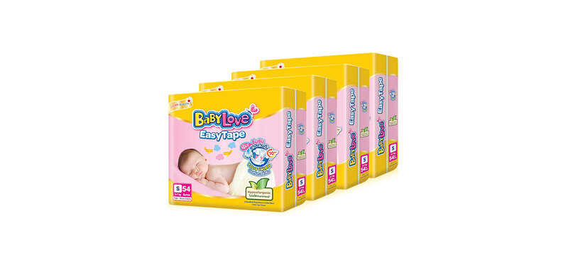 BabyLove Easy Tape Size S [54pcs x 4 Pack]