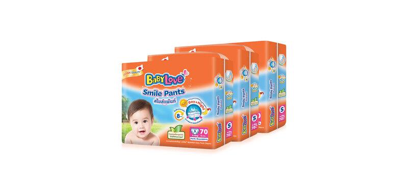 BabyLove Smile Pants Size S [70pcs x 3 Pack]