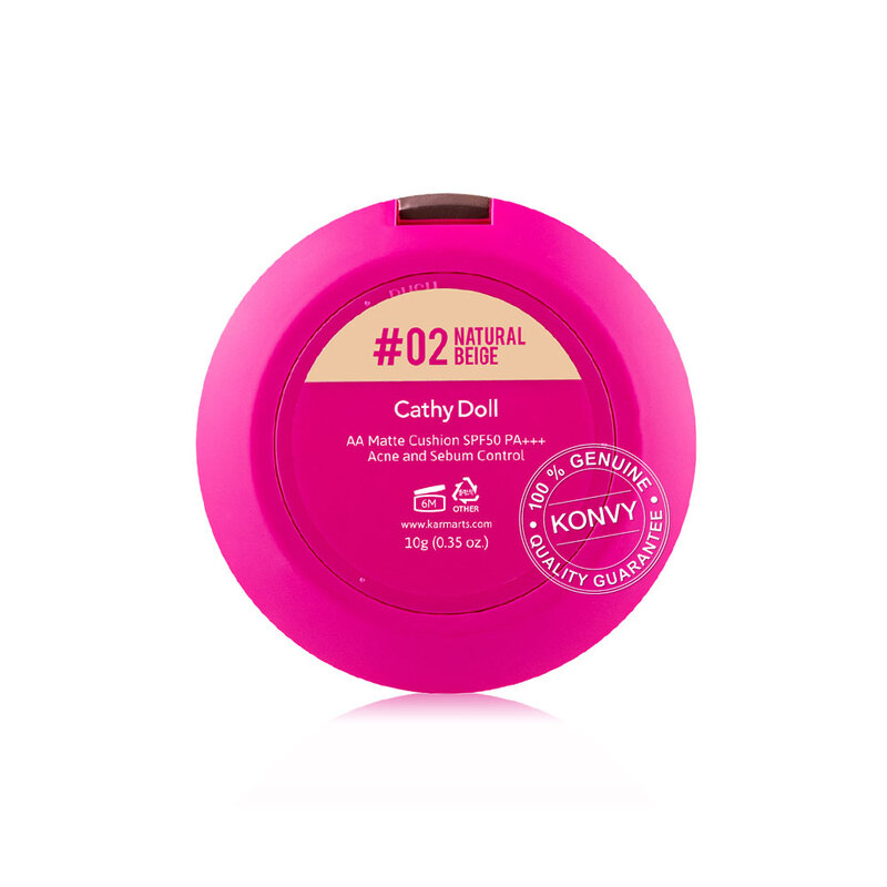 Cathy Doll AA Matte Cushion SPF50/PA+++ Acne and Sebum Control 10g #02 Natural Beige